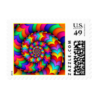 Curly Coil Rainbow Spiral Postage