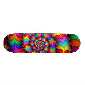Curly Coil Rainbow Spiral Skateboard Deck