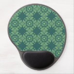 Curly Cute Flower Pattern - Shades of Green Gel Mouse Pad