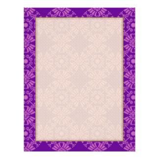 Curly Cute Flowers - Pink on Purple Flyer