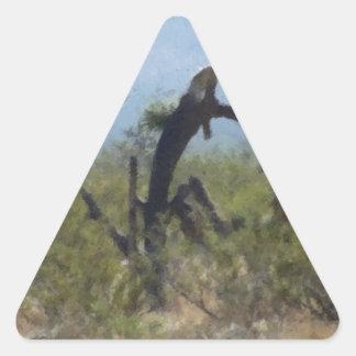 Curly Desert Tree Triangle Sticker