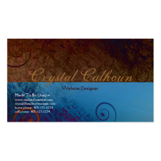 Curly Floral Grunge - Artistic Business Card