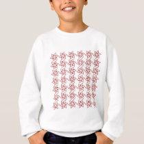 Curly Flower Pattern - Dark Red on White Sweatshirt