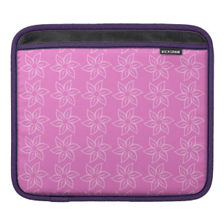 Curly Flower Pattern - Light Pink on Pink Sleeves For iPads