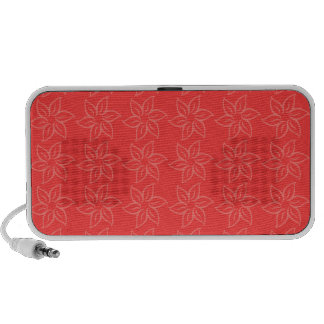 Curly Flower Pattern – Light Red on Red Speaker System