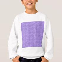 Curly Flower Pattern – Light Violet on Violet Sweatshirt