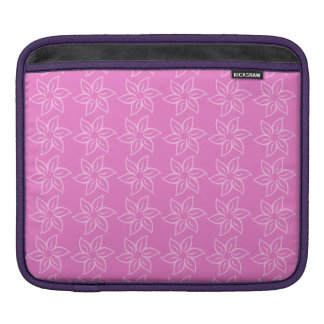 Curly Flower Pattern - Pink on Dark Pink Sleeves For iPads
