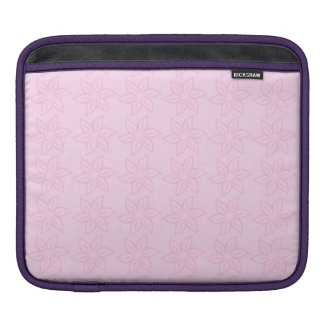 Curly Flower Pattern - Pink on Light Pink Sleeve For iPads