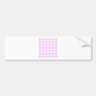 Curly Flower Pattern - Ultra Pink on White Bumper Stickers