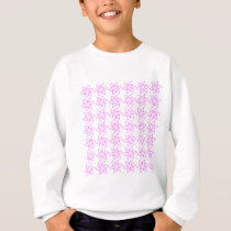 Curly Flower Pattern - Ultra Pink on White Sweatshirt