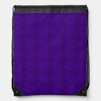 Curly Flower Pattern - Violet on Dark Violet Backpack