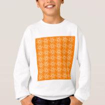 Curly Flower Pattern - White on Amber Sweatshirt