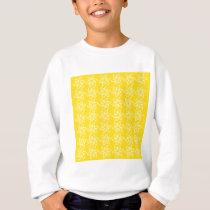 Curly Flower Pattern - White on Golden Yellow Sweatshirt