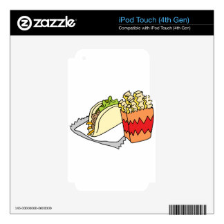 Curly fries street taco food iPod touch 4G skin