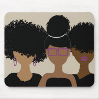 Curly Girl Trio Mousepad