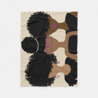 Curly Girl Trio {Royalty} blanket