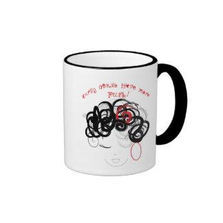 curly girls ringer mug