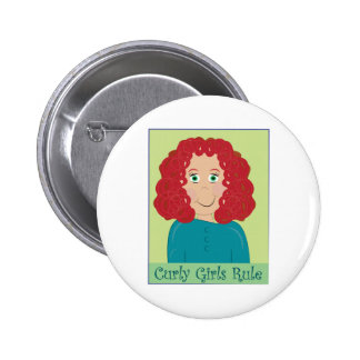 Curly Girls Rule Pinback Button