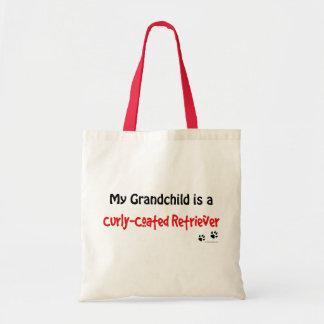 Curly Grandchild Canvas Bags