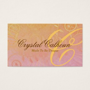 Professional Business Curly Grunge Customizable Business Card