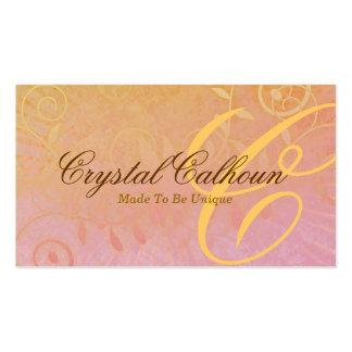 Curly Grunge Customizable Business Card