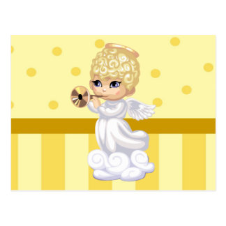 Curly Hair Angel Postcard