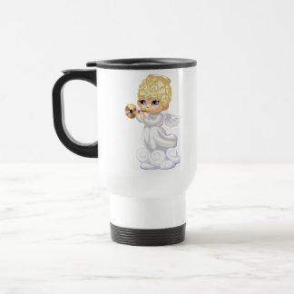 Curly Hair Angel Travel Mug