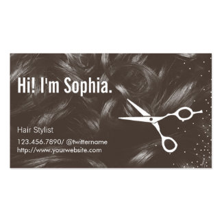 Curly Hair Background Hair Stylist Appointment Business Card