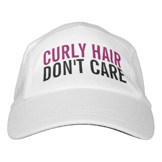 Curly Hair Don't Care Cute Funny Fashion Women's Headsweats Hat