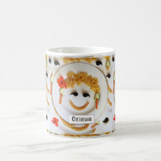 """""""Curly Hair girl"""" garden collage by TR Forsman Classic White Coffee Mug"""