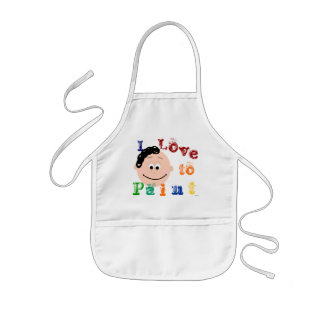 Curly Hair Ponytail Girls Painting Apron