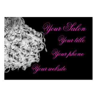 curly hair salon spa business card, template large business card