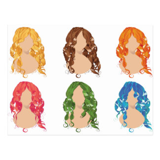 Curly Hair Styles2 Postcard