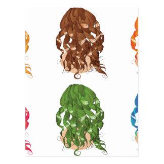 Curly Hair Styles Postcard