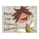 Curly Haired Angel-Pray for Today, Everyday! Postcard
