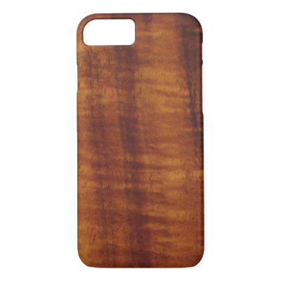 low priced 4849c 887f0 Curly Hawaiian Koa Wood Style Case-Mate iPhone Case | Zazzle.com