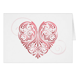 Curly Heart Valentine Card at Zazzle