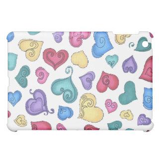 CURLY HEARTS by SHARON SHARPE iPad Mini Cases