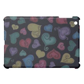 CURLY HEARTS by SHARON SHARPE iPad Mini Cover