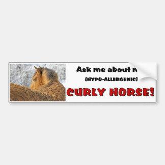 Curly Horse Bumper Sticker 1