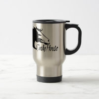 Curly Horse Travel Mug