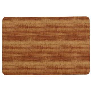 Curly Koa Acacia Wood Grain Look Floor Mat