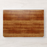 """Curly Koa Acacia Wood Grain Look HP Laptop Skin<br><div class=""""desc"""">An image of a Hawaiian Curly Koa hardwood striped wood grain texture on your product. This tonewood has chatoyant characteristics from the fibrous structure and it&#39;s wood iridescence.</div>"""