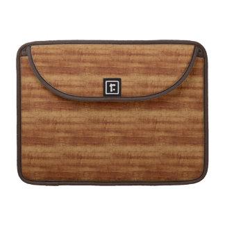 Curly Koa Acacia Wood Grain Look MacBook Pro Sleeves