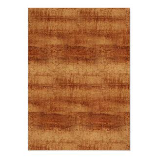Curly Koa Acacia Wood Grain Look Magnetic Card