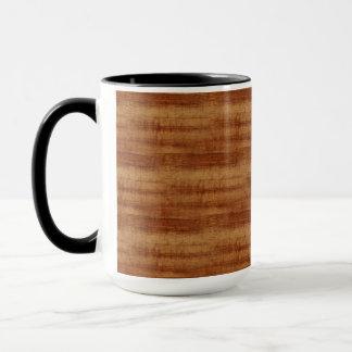Curly Koa Acacia Wood Grain Look Mug