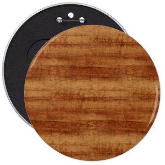 Curly Koa Acacia Wood Grain Look Pinback Button