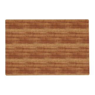 Curly Koa Acacia Wood Grain Look Placemat