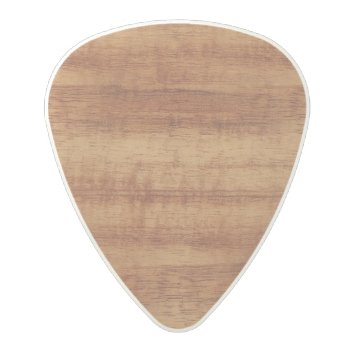 Curly Koa Acacia Wood Grain Look Polycarbonate Guitar Pick by diamondphotography at Zazzle