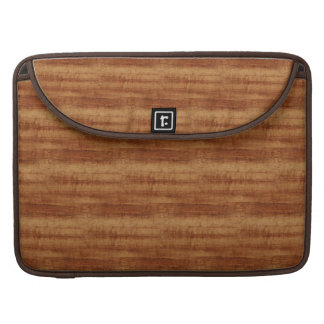 Curly Koa Acacia Wood Grain Look Sleeves For MacBook Pro